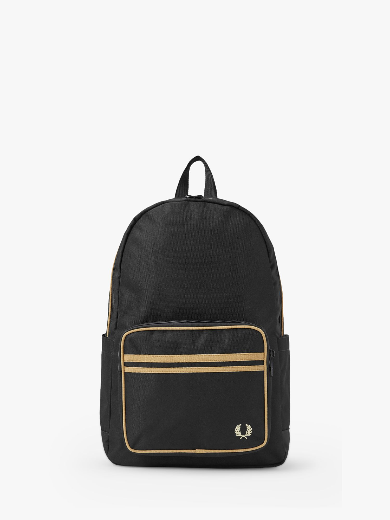 Fred Perry Fred Perry Twin Tipped Backpack, Black/Champagne