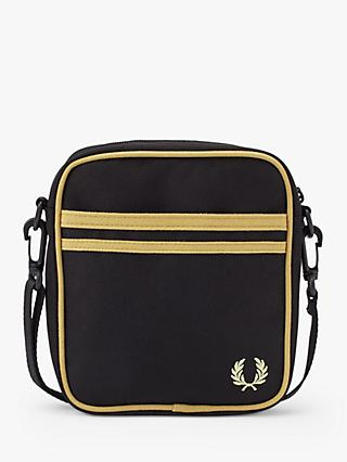 Fred Perry Twin Tipped Side Bag, Black/Champagne