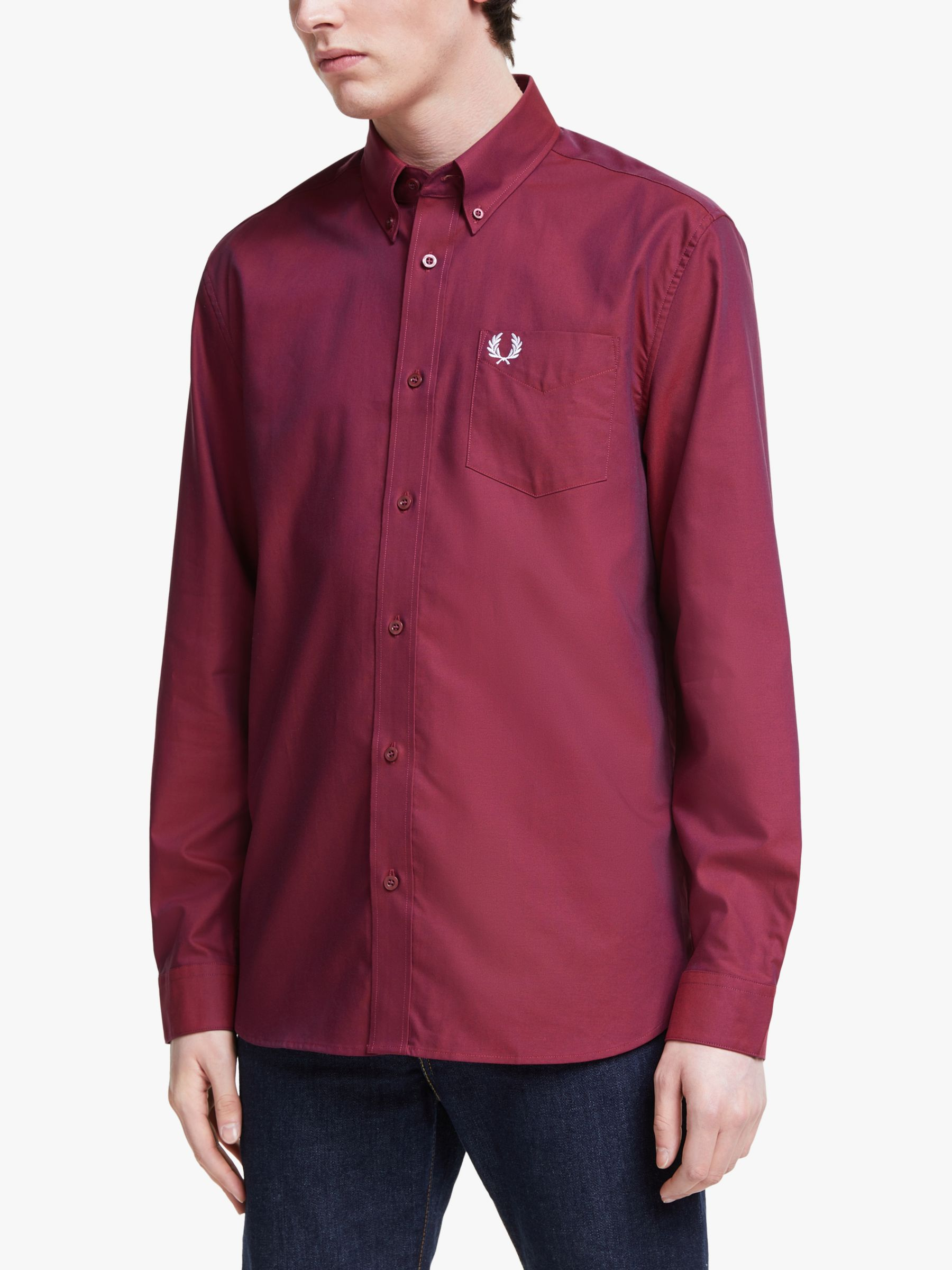 Fred Perry Fred Perry Oxford Shirt, Port