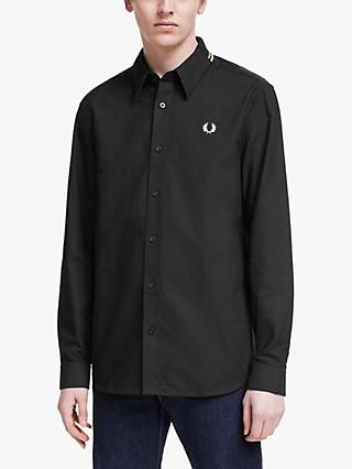 Fred Perry Flat Knit Collar Shirt, Black