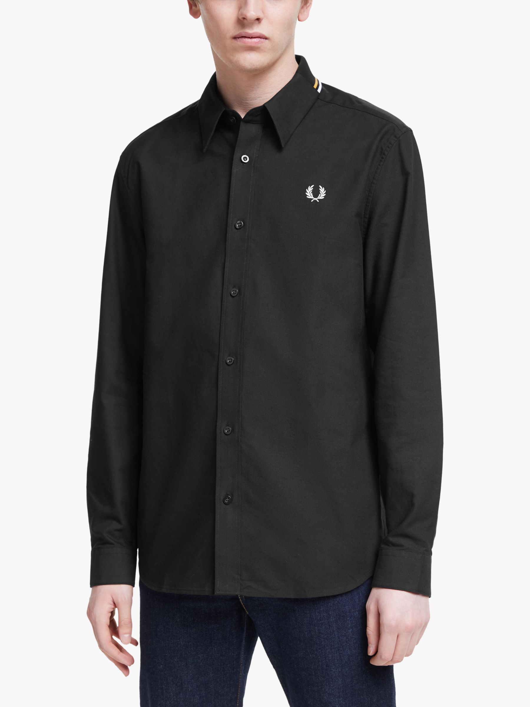 Fred Perry Fred Perry Flat Knit Collar Shirt, Black