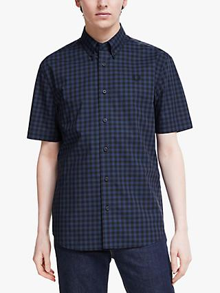 Fred Perry Two Colour Short Sleeve Gingham Shirt
