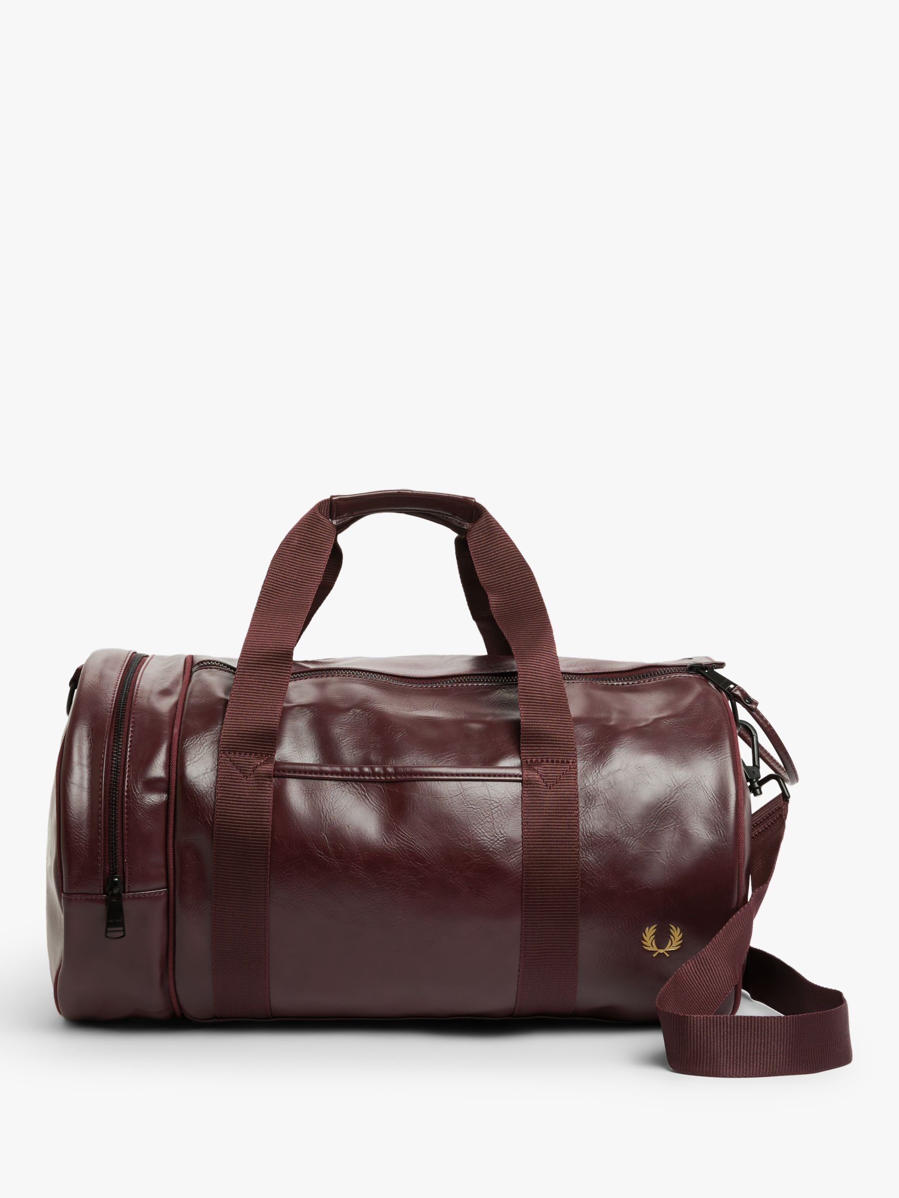 Fred Perry Fred Perry Tonal Barrel Bag, Port