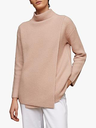 Jigsaw Fishermans Rib Wrap Turtle Neck Jumper