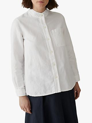 Toast Seth Heavy Cotton Linen Grandad Shirt, Off White