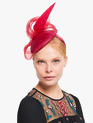 John Lewis & Partners Inez Loop and Feather Pillbox Fascinator