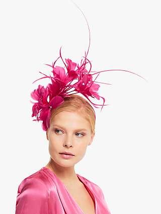 John Lewis & Partners Ivy Feather Flower Fascinator