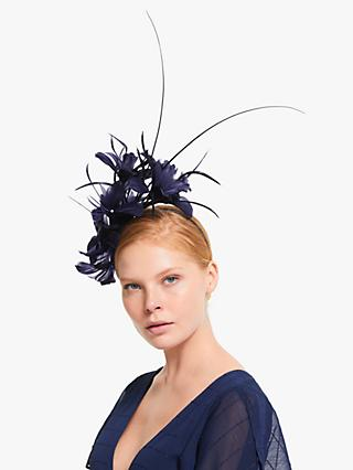 John Lewis & Partners Ivy Feather Flower Fascinator