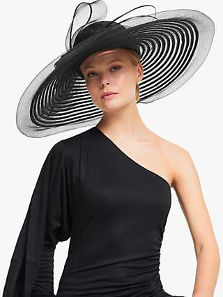 John Lewis & Partners Celia Statement Loop Occasion Hat, Black
