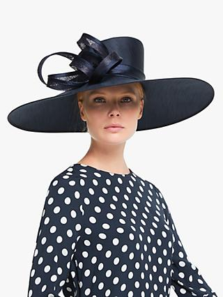 John Lewis & Partners Tanya Wide Brim Occasion Hat, Navy