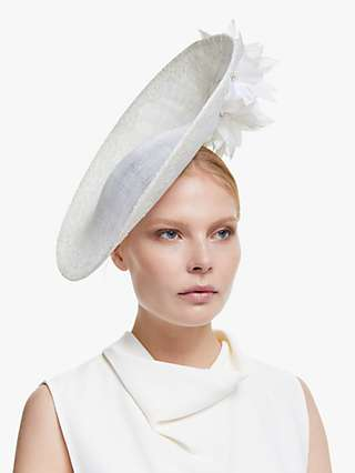 John Lewis & Partners Daisy Flower Detail Disc Occasion Hat, Ivory