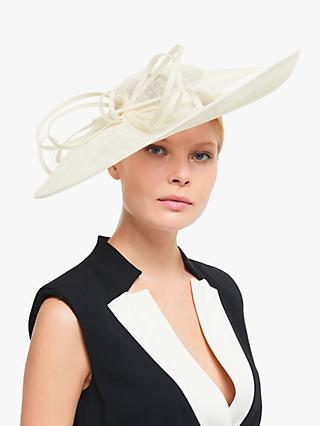 John Lewis & Partners Zara Side Disc Occasion Hat, Ivory
