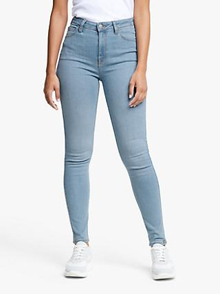 Lee Ivy Super High Waist Skinny Jeans, Light Florin