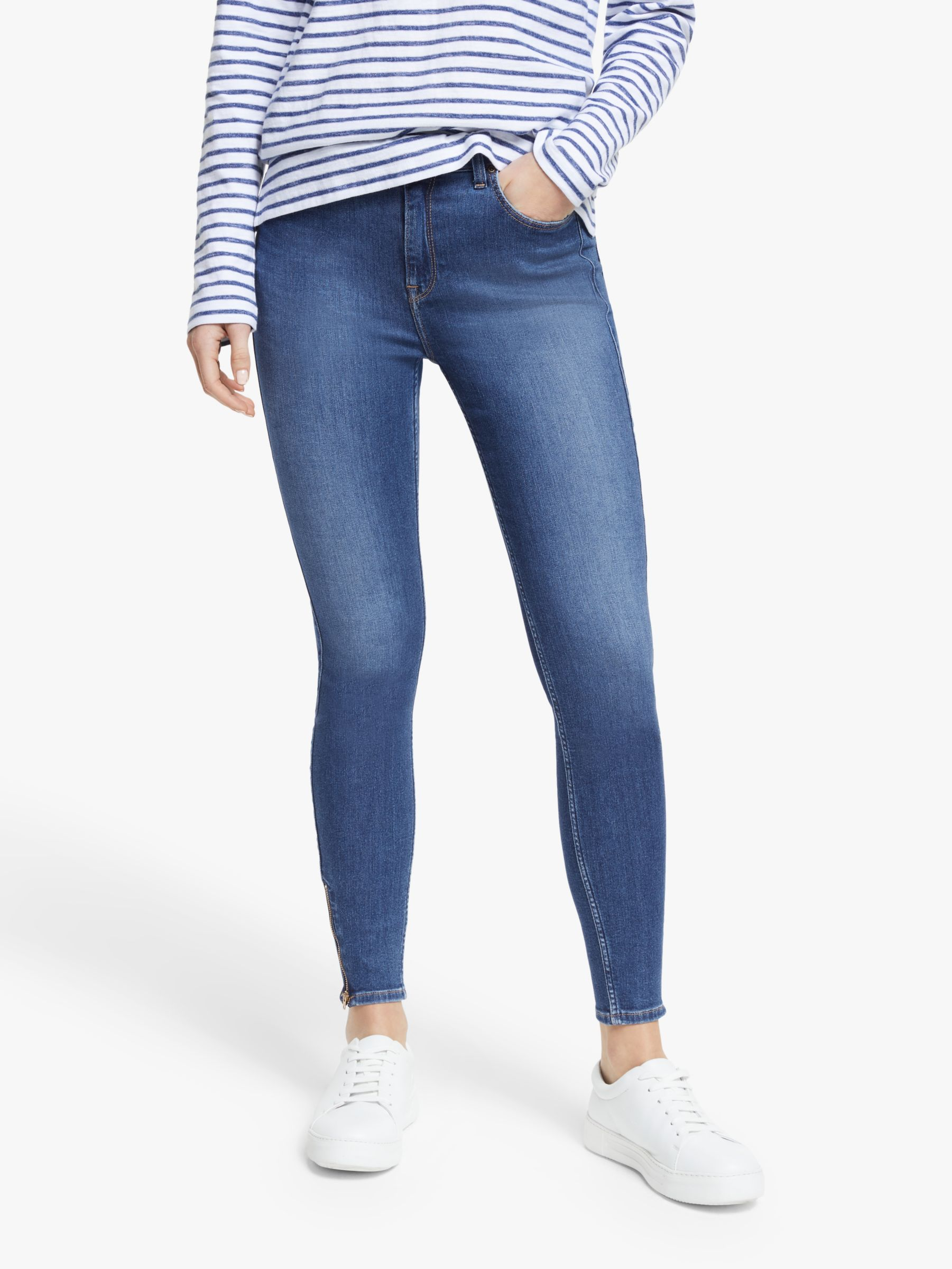 Lee Lee Scarlett High Waist Skinny Jeans, Mid Candy