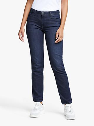 Lee Elly High Waist Slim Jeans, Dark Truxel