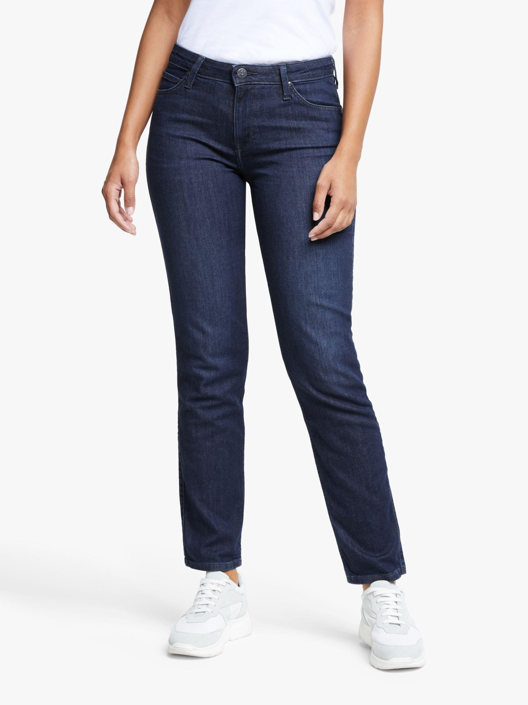Lee Lee Elly High Waist Slim Jeans, Dark Truxel