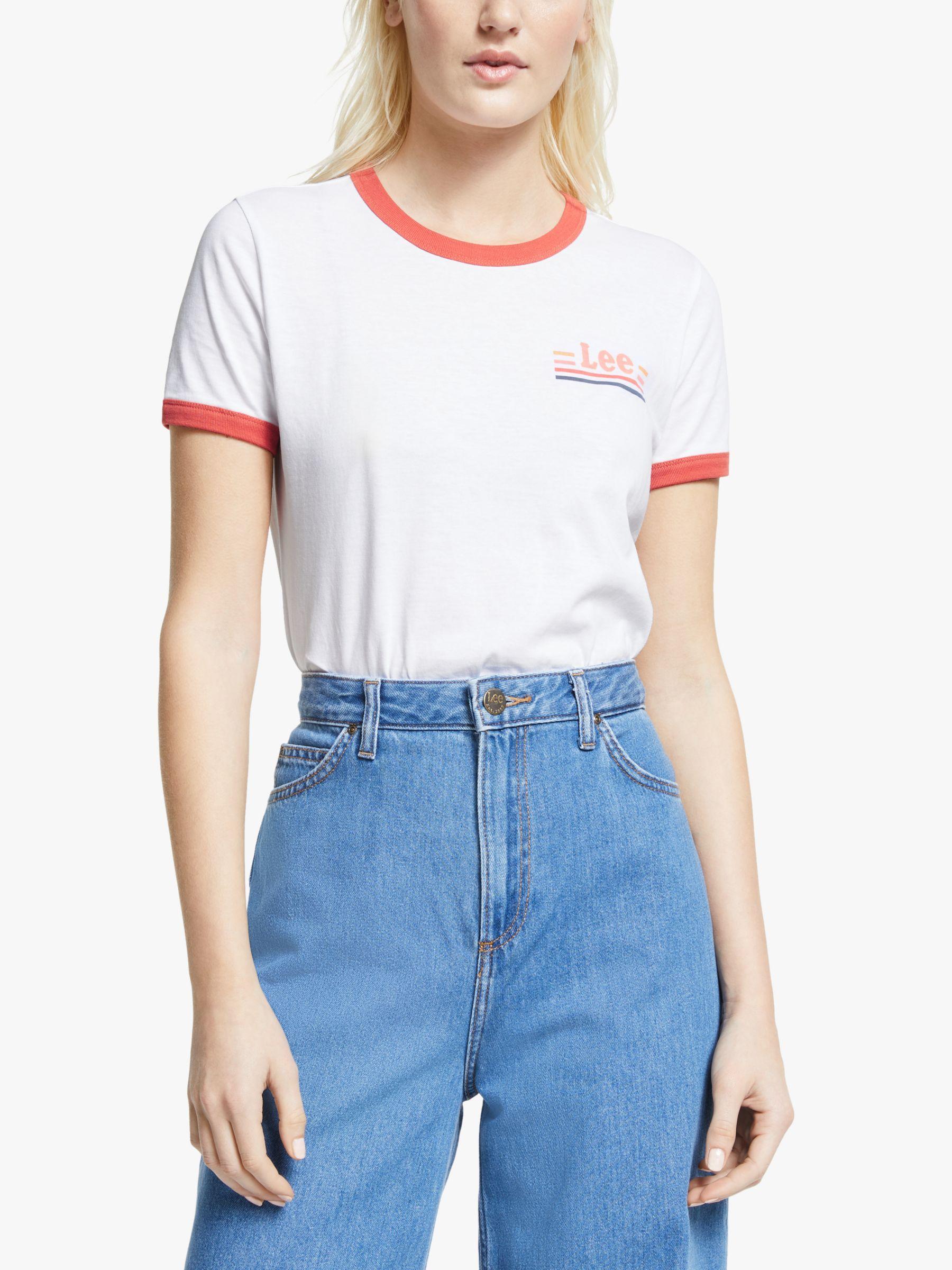 Lee Lee Ringer Logo T-Shirt, Bright White