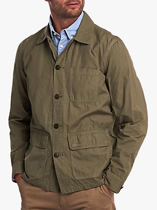 Barbour Quenton Overshirt Jacket, Green Moss