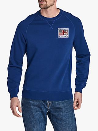 Barbour International Steve McQueen Team Flags Sweatshirt, Inky Blue