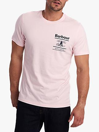 Barbour Chanonry Beacon Graphic T-Shirt, Chalk Pink