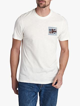 Barbour International Steve McQueen Team Flags T-Shirt, Whisper White