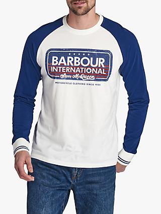 Barbour International Steve McQueen 278 T-Shirt, White/Inky Blue