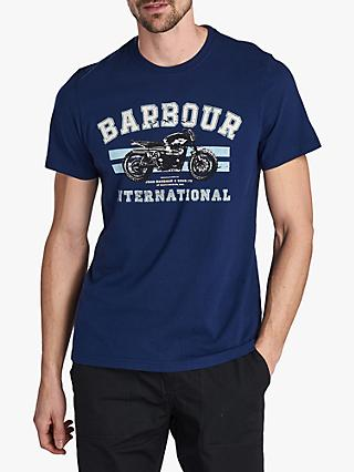 Barbour International Bracket T-Shirt, Regal Blue