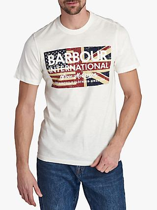 Barbour International Steve McQueen Vintage Flag T-Shirt, Whisper White