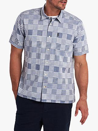 Barbour Short Sleeve Patch Work Shirt, Chambray