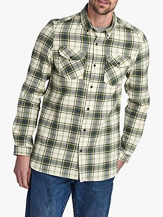 Barbour International Max Cotton Check Shirt, Pea Green