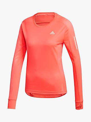 adidas Own The Run Long Sleeve Running Top, Signal Pink