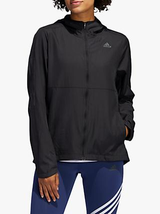 adidas Own The Run Hooded Wind Women's Running Jacket, Black