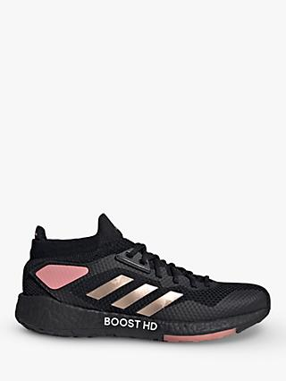 adidas PulseBOOST HD Women's Running Shoes, Core Black/Copper Metallic/Glow Pink