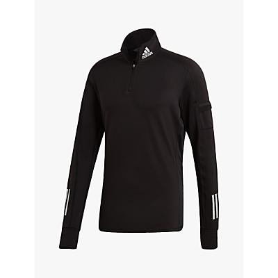 Product photo of Adidas own the run 1 2 zip warm running sweatshirt black