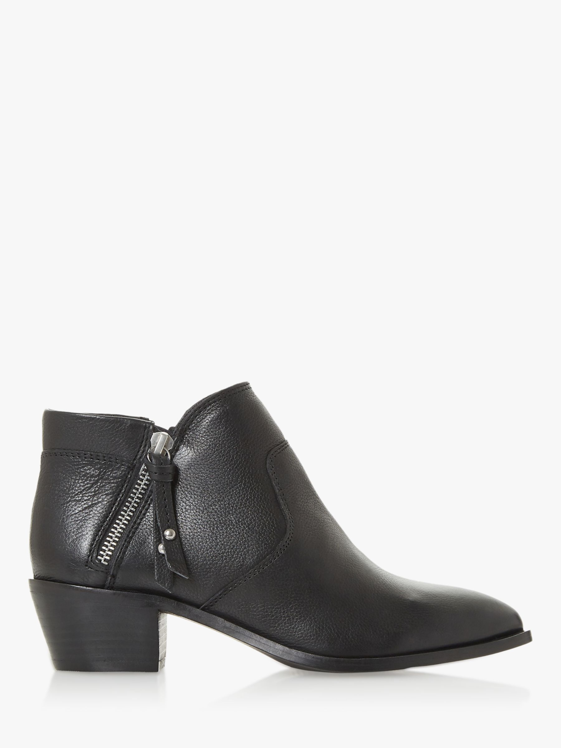 Bertie Bertie Peonies Leather Block Heel Shoe Boots, Black
