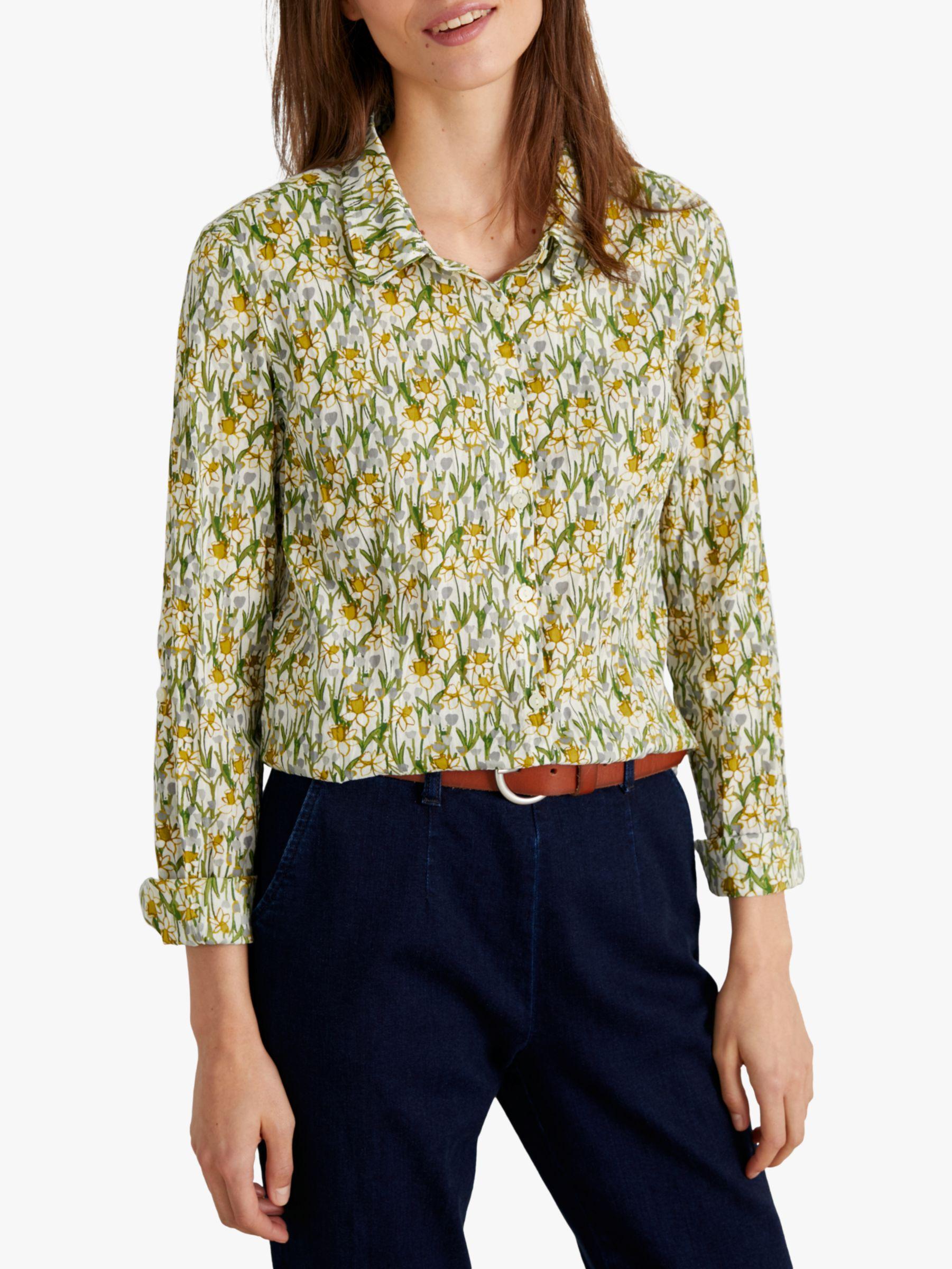 Seasalt Seasalt Larissa Shirt, Spring Border Dill
