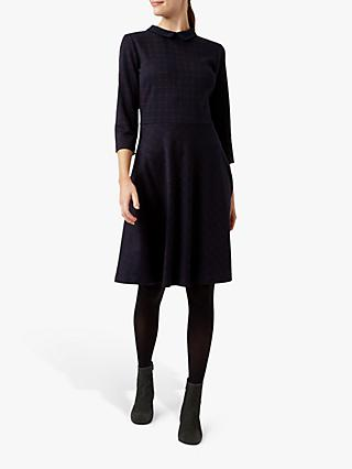 Hobbs Lillith Dress, Navy/Red