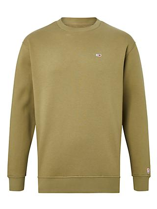 Tommy Jeans Classic Tommy Sweat Top, Khaki