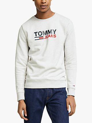 Tommy Jeans Tommy Corp Crew Sweatshirt, Grey