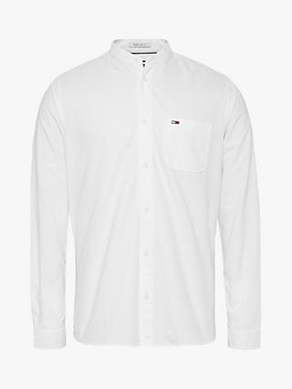 Tommy Jeans Grandad Collar Oxford Shirt, White