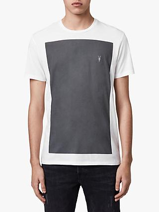 AllSaints Lobke Crew T-Shirt, Chalk/Washed Black