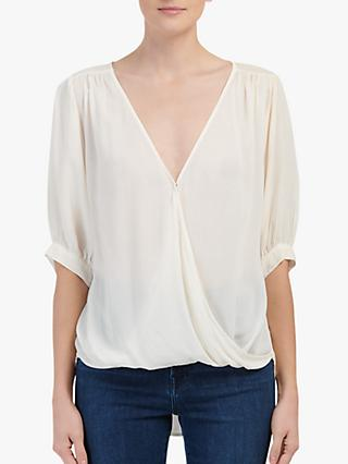 Velvet by Graham & Spencer Willow Slouched Wrap Top, Natural