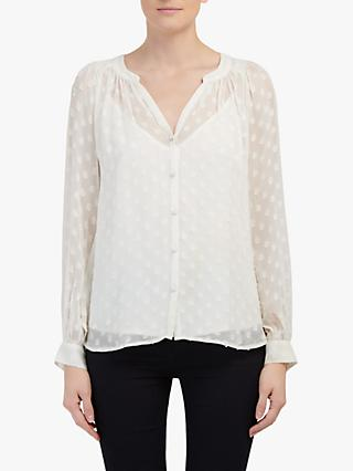 Velvet by Graham & Spencer Helga Dot Blouse, Cream
