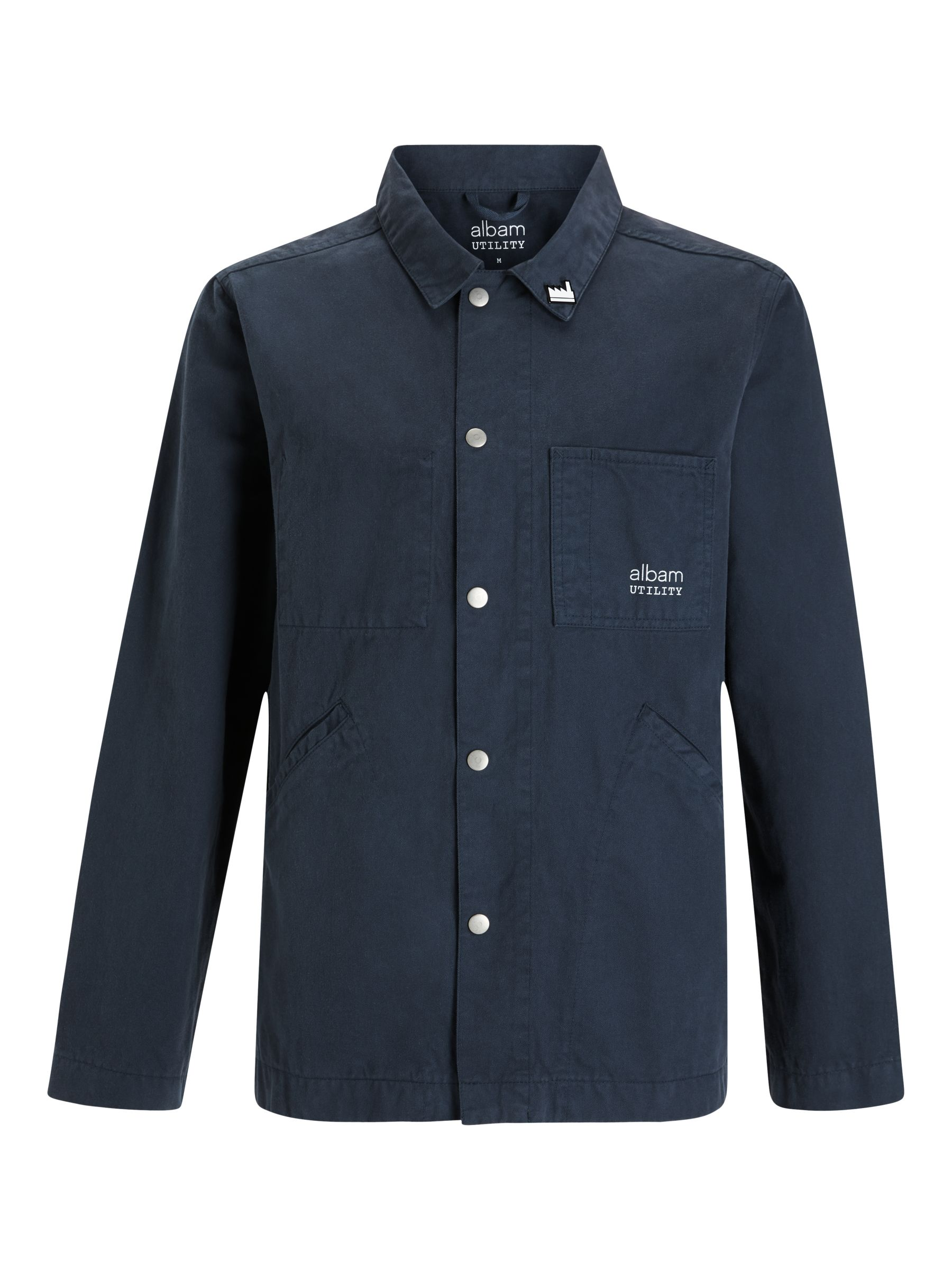 Buy Albam Utility Cotton Factory Work Jacket, Navy, S Online at johnlewis.com