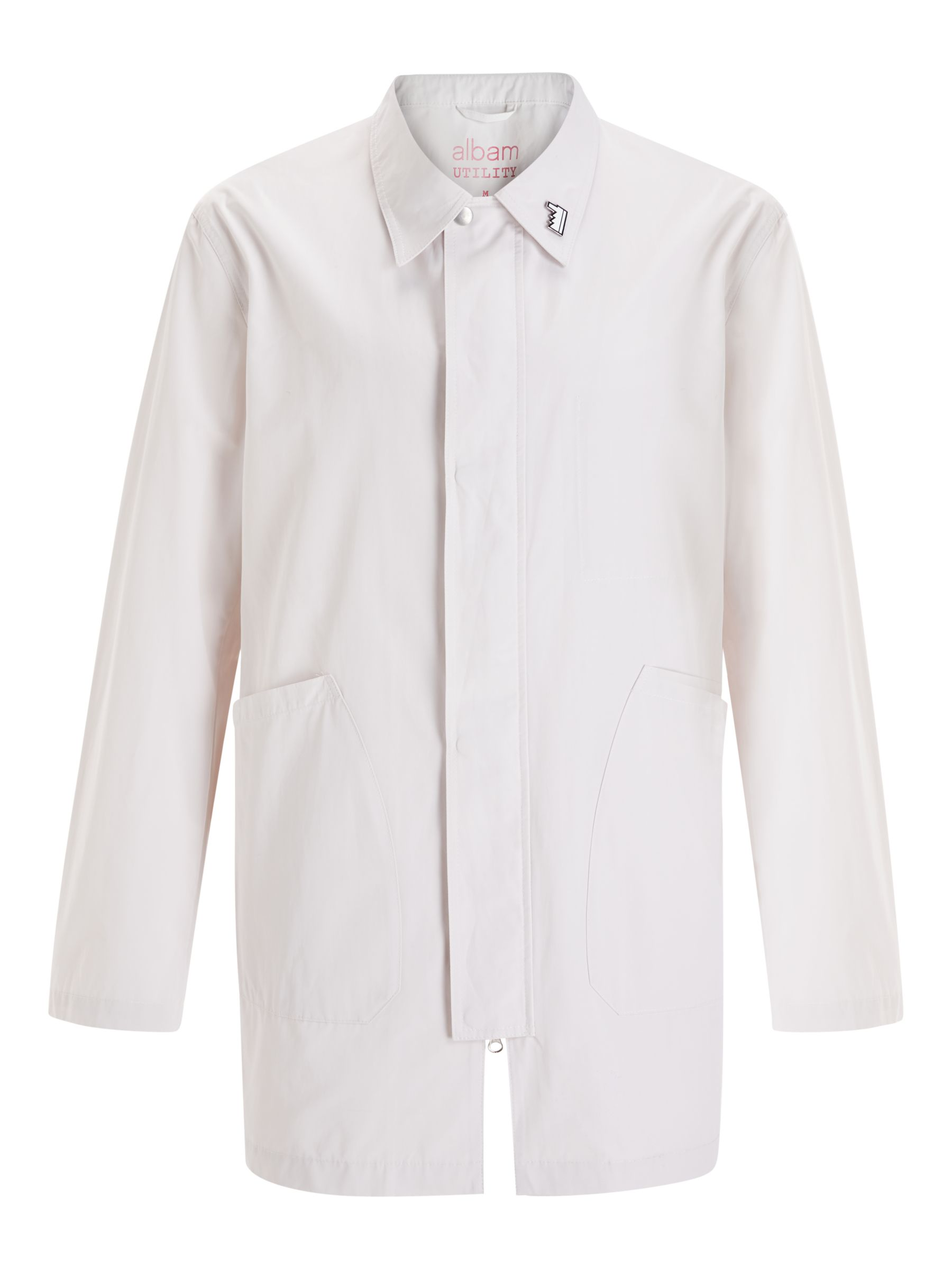 Buy Albam Utility Cotton-Blend Foreman Jacket, White, S Online at johnlewis.com