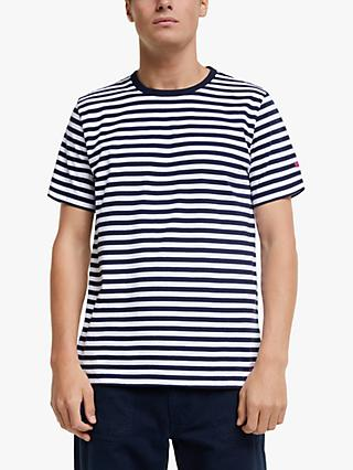 Albam Utility Engineered Stripe T-Shirt, Navy/White