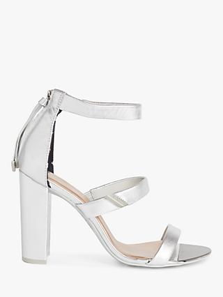 Ted Baker Alinrm Leather Sandals, Silver