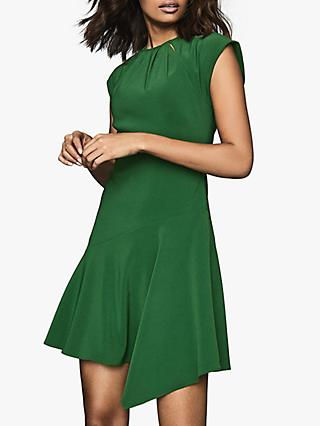 Reiss Belle Capped Sleeve Dress, Green