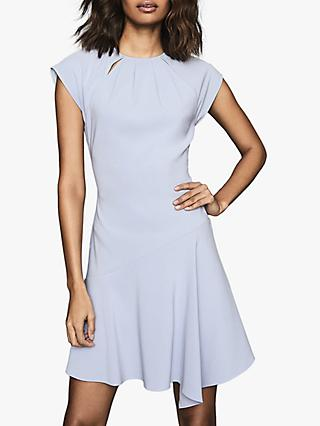 Reiss Belle Capped Sleeve Dress, Pale Blue