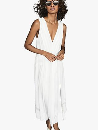 Reiss Marcella Split Front Dress, White
